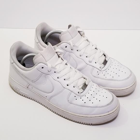 Nike Men 11 Low Top White Air Force 1 Sneaker Shoe